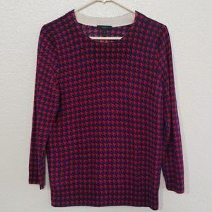 J. Crew Houndstooth Tippi Merino Wool Sweater